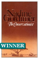 1974 Winner - The Conservationist by Nadine Gordimer (Published by Jonathan Cape)