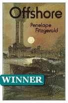 1979 Winner - Offshore by Penelope Fitzgerald (Published by Collins)