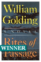1980 Winner - Rites of Passage by William Golding (Published by Faber & Faber)