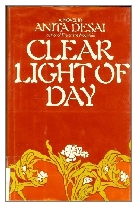 1980 - Clear Light of Day by Anita Desai (Published by Heinemann)