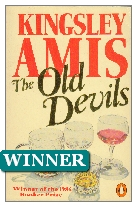 1986 Winner - The Old Devils by Kingsley Amis (Published by Hutchinson)