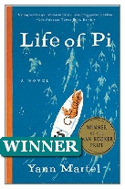 2002 Winner - Life of Pi by Yann Martel (Published by Canongate)