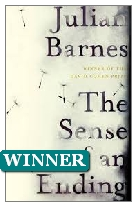 2011 Winner - The Sense of an Ending by Julian Barnes (Published by Jonathan Cape)