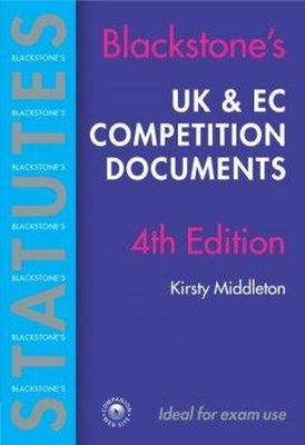 - Blackstone's UK and EC Competition Documents - 9780199283187 - KEX0265200