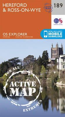 Ordnance Survey - Hereford and Ross-on-Wye (OS Explorer Active Map) - 9780319470619 - V9780319470619
