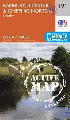 Ordnance Survey - Banbury, Bicester and Chipping Norton (OS Explorer Active Map) - 9780319470633 - V9780319470633