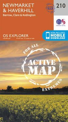 Ordnance Survey - Newmarket and Haverhill, Barrow, Clare and Kedington (OS Explorer Active Map) - 9780319470824 - V9780319470824