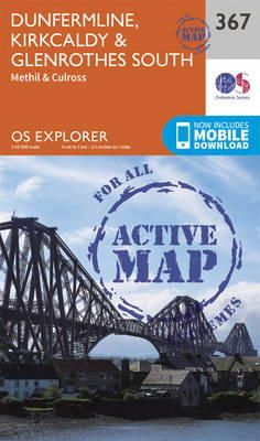 Ordnance Survey - Dunfermline, Kirkcaldy and Glenrothes South (OS Explorer Active Map) - 9780319472354 - V9780319472354