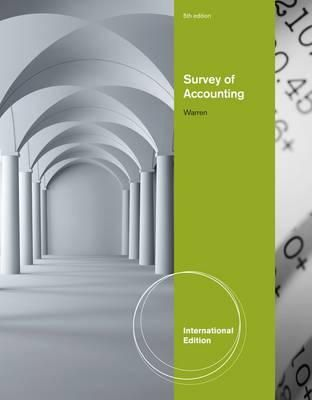 Warren, Carl - Survey of Accounting - 9780538751469 - V9780538751469