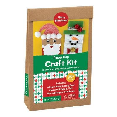 . - Mudpuppy Merry Christmas! Paperbag Craft Kit - 9780735346017 - V9780735346017