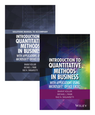 Kolluri, Bharat, Panik, Michael J., Singamsetti, Rao N. - Introduction to Quantitative Methods in Business: With Applications Using Microsoft Office Excel Set - 9781119221074 - V9781119221074