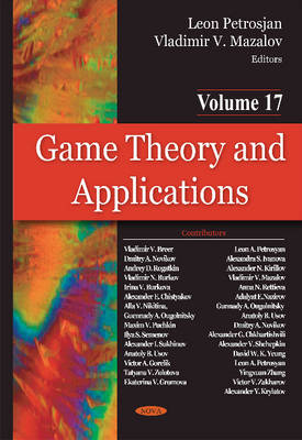 Mazalov, Vladimir - Game Theory and Applications: Game-theoretic Models in Mathematical Ecology - 9781634834896 - V9781634834896