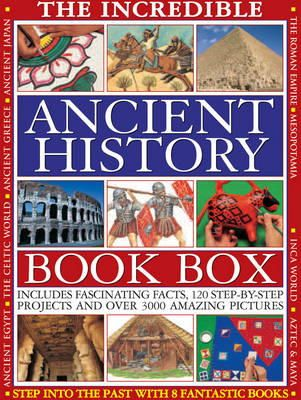 Macdonald, Fiona, Oakes, Lorna, Steele, Philip, Tames, Richard - THE INCREDIBLE ANCIENT HISTORY BOOK BOX: Step into the past with 8 fantastic books: Ancient Greece, The Inca World, Mesopotamia, The Roman Empire, ... The Aztec & Maya Worlds, The  - 9781843228004 - V9781843228004