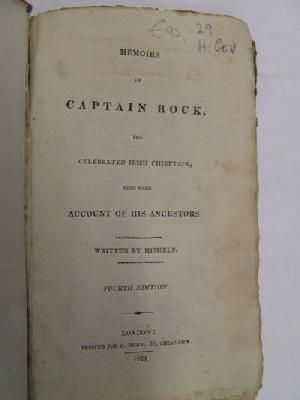 Thomas Moore - Memoirs of Captain Rock, the Celebrated Irish Chieftain, with Some Account of His Ancestors:  Written by Himself -  - KHS1017717