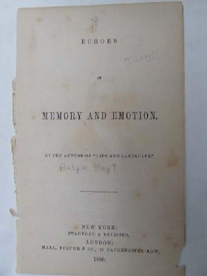 Anon - Echoes of Memory and Emotion -  - KNW0013850
