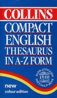 Not Known - Collins Compact English Thesaurus: In A-Z Form - 9780004702889 - KEX0262510