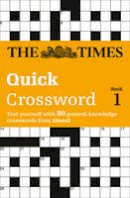 - The Times T2 Crossword Book 1: Bk. 1 - 9780007110780 - V9780007110780