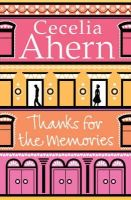 Ahern, Cecelia - Thanks for the Memories - 9780007233687 - KRF0012718