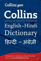 Harper Collins Publishers - Collins GEM English-Hindi/Hindi-English Dictionary - 9780007387137 - V9780007387137