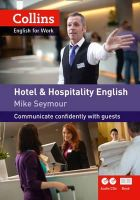Seymour, Mike - Collins Hotel and Hospitality English (Collins English for Business) - 9780007431984 - V9780007431984