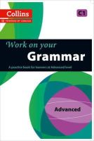 Collins UK - Collins Work on Your Grammar - Advanced (C1) - 9780007499670 - V9780007499670