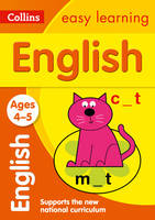 Collins Easy Learning - Collins Easy Learning Age 3-5 — English Ages 4-5: New Edition - 9780008134204 - V9780008134204