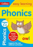 Collins Easy Learning - Collins Easy Learning Age 5-7 — Phonics Ages 5-6: New Edition - 9780008134358 - V9780008134358