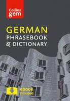Collins Dictionaries - Collins Gem German Phrasebook and Dictionary - 9780008135966 - V9780008135966