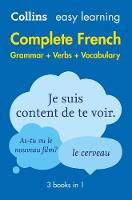 Collins Dictionaries - Easy Learning Complete French Grammar, Verbs and Vocabulary (3 Books in 1) - 9780008141721 - V9780008141721