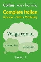 Collins Dictionaries - Easy Learning Complete Italian Grammar, Verbs and Vocabulary (3 Books in 1) - 9780008141752 - V9780008141752