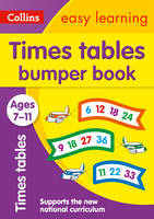 Collins Easy Learning - Times Tables Bumper Book Ages 7-11 - 9780008151492 - V9780008151492