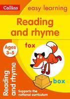 Collins Easy Learning - Reading and Rhyme Ages 3-5 - 9780008151560 - 9780008151560