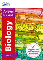 Collins UK - Letts A-level In a week - New 2015 Curriculum – A-level Biology Year 2: In a Week - 9780008179076 - KRA0001940