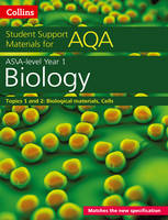 Collins Uk - Collins Student Support Materials for AQA – A Level/AS Biology Support Materials Year 1, Topics 1 and 2: Biological Materials, Cells - 9780008180799 - V9780008180799