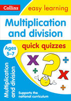 Collins UK - Multiplication and Division Quick Quizzes: Ages 5-7 (Collins Easy Learning KS1) - 9780008212483 - V9780008212483