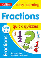 Collins UK - Fractions Quick Quizzes: Ages 5-7 (Collins Easy Learning KS1) - 9780008212506 - V9780008212506