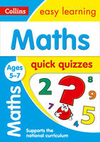 Collins Uk - Maths Quick Quizzes: Ages 5-7 (Collins Easy Learning KS1) - 9780008212520 - V9780008212520