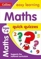 Collins UK - Maths Quick Quizzes: Ages 7-9 (Collins Easy Learning KS2) - 9780008212629 - V9780008212629