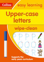 HarperCollins UK - Upper Case Letters: Wipe-Clean Activity Book (Collins Easy Learning Preschool) - 9780008212919 - V9780008212919