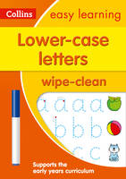 HarperCollins UK - Lower Case Letters: Wipe-Clean Activity Book (Collins Easy Learning Preschool) - 9780008212926 - V9780008212926