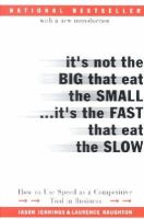 Jennings, Jason; Haughton, Laurence - It's Not the Big That Eat the Small...It's the Fast That Eat the Slow - 9780066620541 - V9780066620541