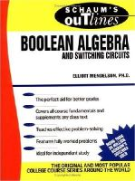 Mendelson, Elliott - Schaum's Outline of Theory and Problems of Boolean Algebra and Switching Circuits - 9780070414600 - V9780070414600