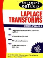 Spiegel, Murray R. - Schaum's Outline of Laplace Transforms - 9780070602311 - V9780070602311