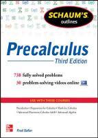 Safier, Fred - Schaum's Outline of Precalculus - 9780071795593 - V9780071795593