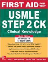 Le, Tao; Bhushan, Vikas - First Aid for the USMLE Step 2 CK - 9780071844574 - V9780071844574
