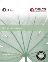 Great Britain: Cabinet Office - ITIL Service Strategy - 9780113313853 - V9780113313853