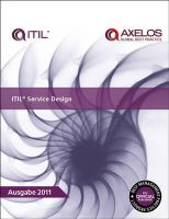 Great Britain: Cabinet Office - ITIL Service Design - 9780113313884 - V9780113313884