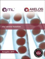 Great Britain: Cabinet Office - ITIL Service Transition - 9780113314010 - V9780113314010