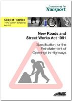Great Britain: Department for Transport - Specification for Reinstatement of Openings in Highways - 9780115531415 - V9780115531415