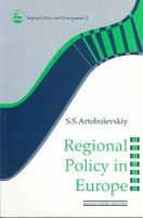 Artobolevskiy, S.S - Regional Policy in Europe (Regions and Cities) - 9780117023703 - KST0027773